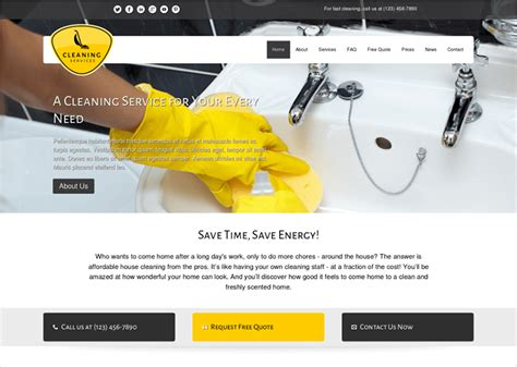 cleaning company wordpress themes free premium templates