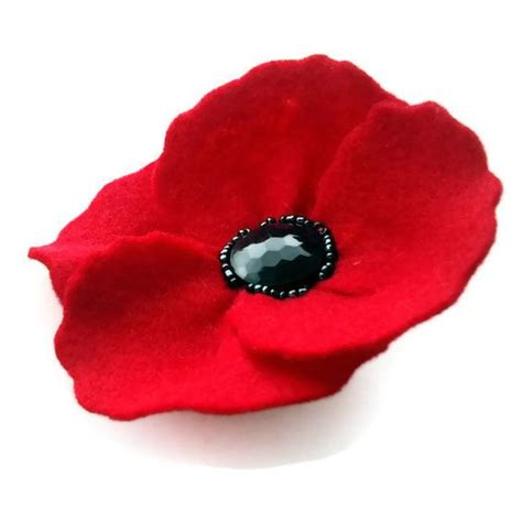 pattern for felt poppy red felt poppy brooch diy flowers pinterest poppies