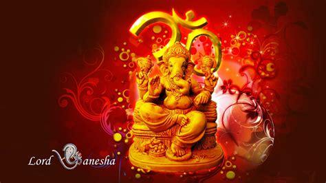 lord ganesha hindu hd wallpaper red  yellow color  wallpaperscom