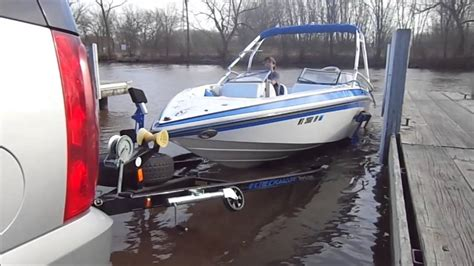boat trailer steps and handle guide on step boat launch youtube