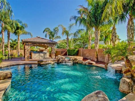 tropical backyards with a pool home designer tropical pools beautiful and exotic landscape ideas