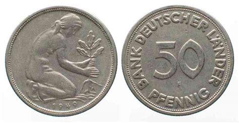 50 pfennig bank deutscher länder 1949 j brd 50 pfennig 1949 f bank deutscher l 228 nder 67706 ebay