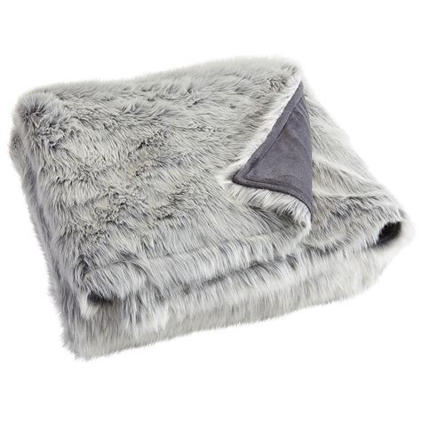 light grey throw blanket gray ombre faux fur blanket shams from pier 1 imports