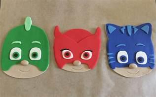 pj masks inspired cake topper