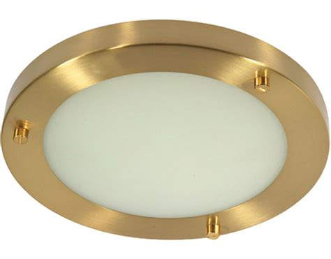 Flush Bathroom Ceiling Lights From Easy Lighting Flush Ceiling Lights Brass