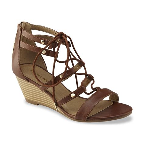 Wedges Emilly covington s emily brown wedge sandal shoes s shoes s sandals