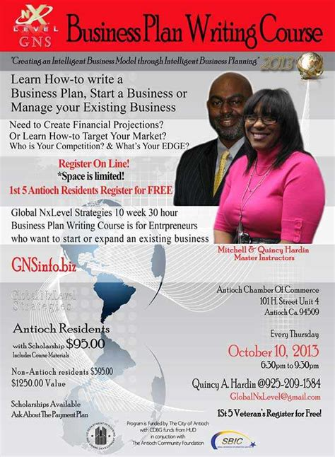 learn to write a business plan at the antioch chamber