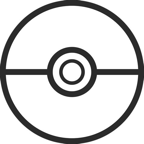 pokeball template free vector graphic pokeball go free
