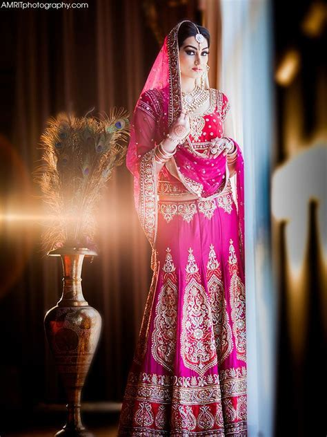 Indian bridal pink colour lengha   Photography by: www