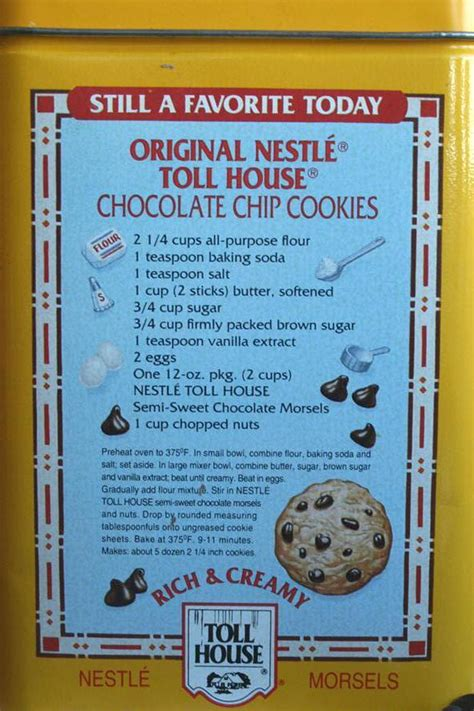 Original Toll House Cookie Recipe by Important Inventor Of 20th Century Born This Day In Tech