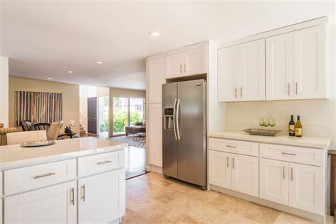 newly renovated contemporary small kitchen  clean