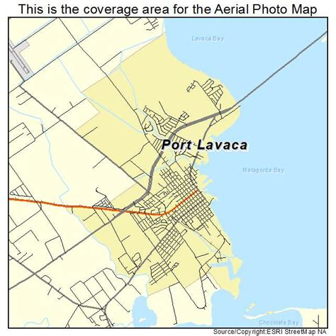port texas map aerial photography map of port lavaca tx texas