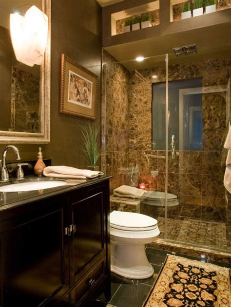 Brown Marble Bathroom Ideas Brown Bathroom Home Design Ideas Pictures Remodel And Decor