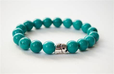 turquoise stone necklace turquoise bracelet silver elephant bracelet gemstone