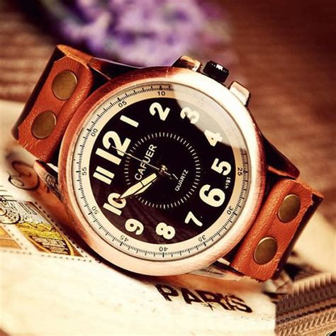 Handmade Leather Watches - stan vintage watches handmade antique style watches