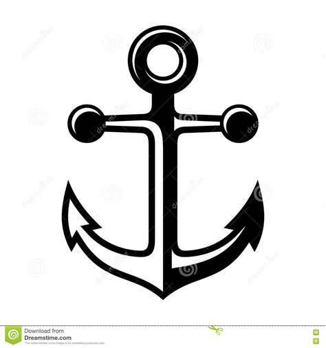 anchor icon stock vector image 40258714