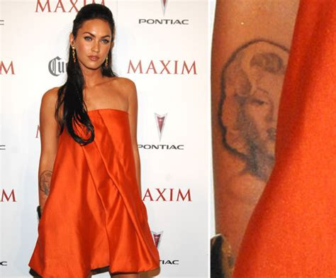 megan fox marilyn tattoo megan fox has a forearm of marilyn she s in