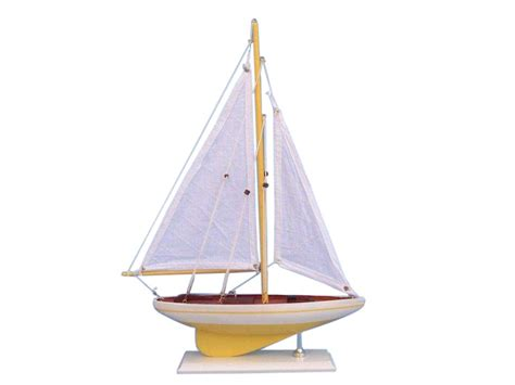 Sailboat Models For Decoration by Buy Wooden Yellow Pacific Sailer Model Sailboat Decoration