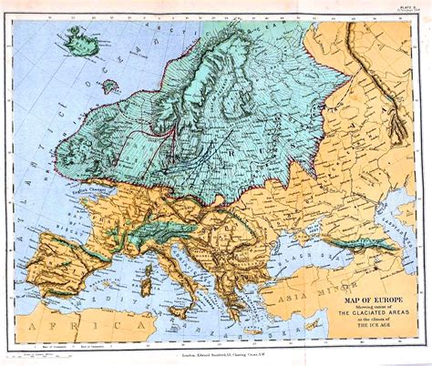 map  europe   ice age mapping  universe