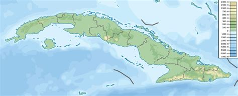 physical map of cuba file cuba physical map svg