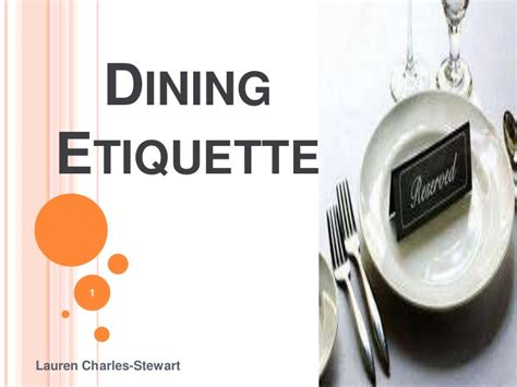 Dining Table Manners And Etiquettes Dining Etiquette