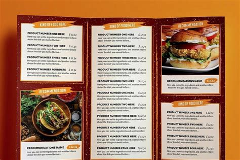 30 Best Food Drink Menu Templates Design Shack Pages Menu Template