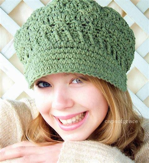 crochet hat pattern womens newsboy hat slouchy hat slouch