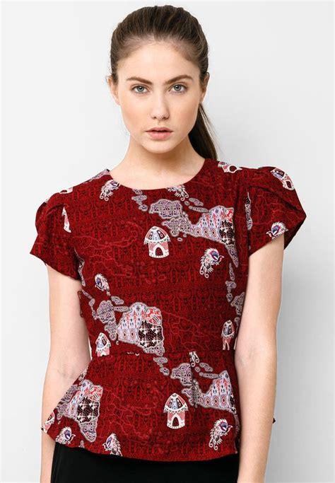 blouse batik peplum batik blouse peplum papua i batik