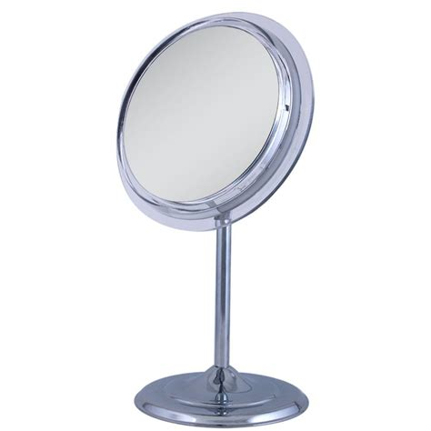 Chrome Vanity Mirror by 5x Adjustable Pedestal Vanity Mirror In Chrome Sa35 The Home Depot
