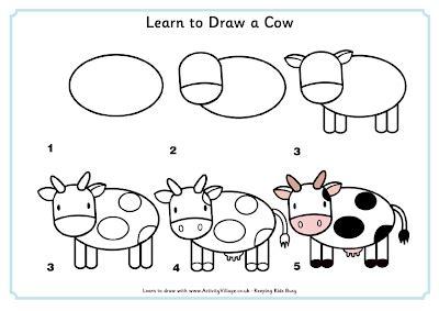 imagenes para dibujar una vaca dibujos para ni 241 os en pocos pasos recopilaci 243 n blog de
