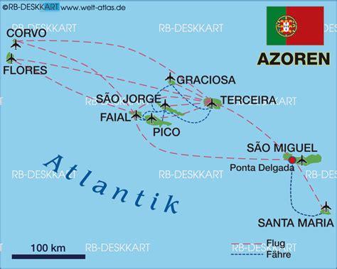 map of azores map of azores islands region in portugal welt atlas de