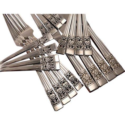 artistic flatware oneida community plate coronation art deco silverware set