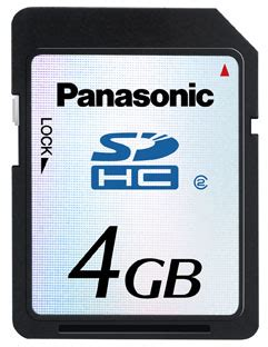video format panasonic viera sd card panasonic announces 4gb sdhc sd card