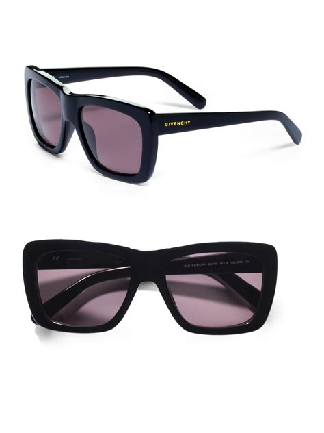 givenchy oversized wayfarer sunglasses in black lyst