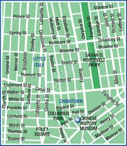 Chinatown New York Map by Little Italy Chinatown New York Map Area Maps Of New