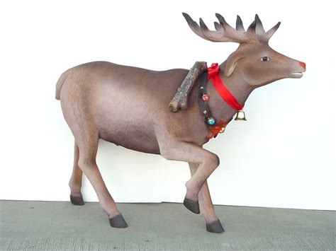 fiberglass 12 reindeer reindeer with decorative belt statue decor