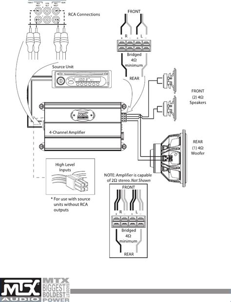 component speakers 4 channel wiring diagram wiring