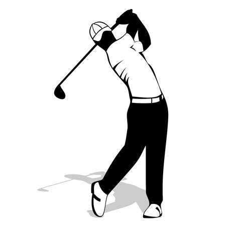 golfer silhouette vector for free use golf player clipart best clipart best