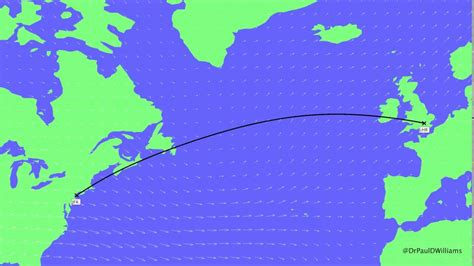 Flight From The Water Planet how flight routes from ny jfk to lhr vary daily