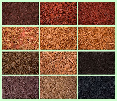 garden mulch types mulch colors colored mulch yards gardens