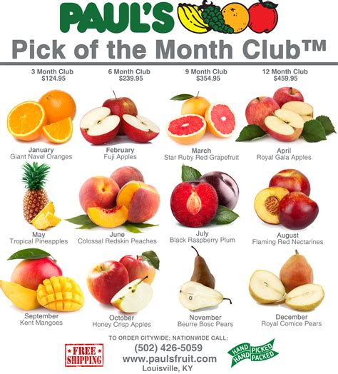 fruit of the month club of the month club paul s fruit