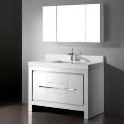white ikea single wash basin bathroom sink: image of trendy single sink bathroom vanity white using gloss laminate