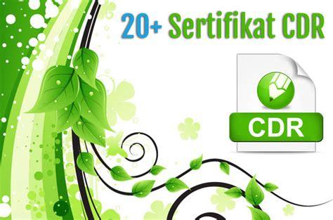 gratis  contoh sertifikat format coreldraw