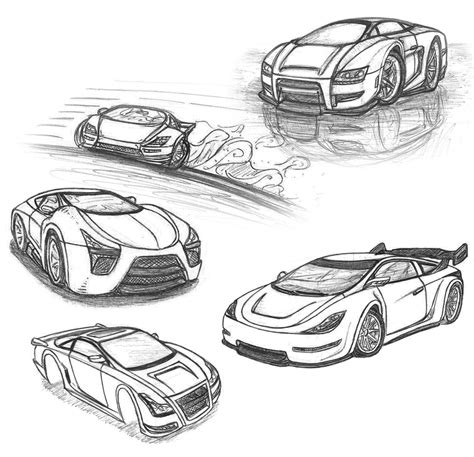 Sketches Of Cars by Drawing Drawings Of Cars To Color Pencil Car