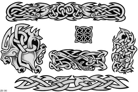 traditional tattoo wolfhat wolf border celtic designs sheet 181 celtic designs