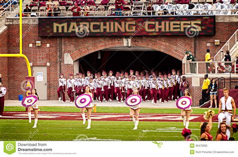 the marching chiefs of florida state the band that never lost a halftime show books fsu marching chiefs editorial image image 36475835