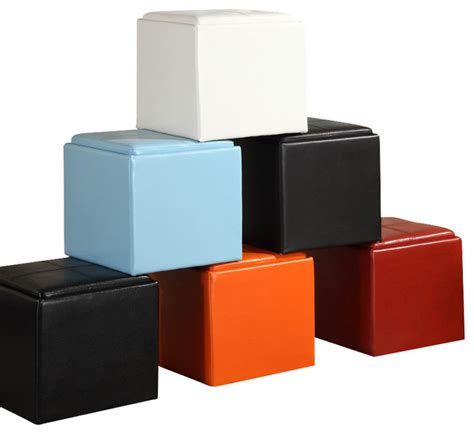 cube ottomans with storage homelegance ladd storage cube ottoman footstools and