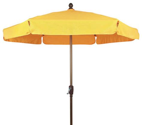 Yellow Patio Umbrella Fiberbuilt Umbrellas 7 5 Foot Hexagonal Yellow Aluminium Base Garden Umbrella Outdoor