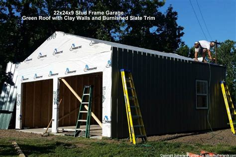2 car post frame garage with attic customer projects customer project photo gallery garages