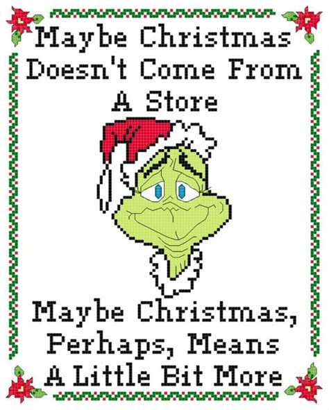 pattern stitch meaning green christmas thief redemption cross stitch pattern